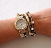 Image of Watch Wrap Around Leopard print with chains