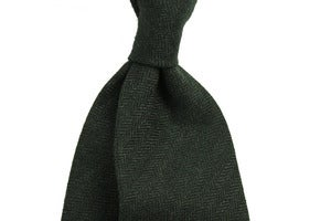 Image of Dark Green Herringbone
