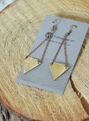 Image of Lillian Pope Double Arrow Earrings: Copper