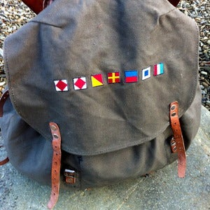 Image of utility rucksack fforest nautical flags
