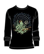 Image of Lady Cthulhu Thermal Shirt in Black