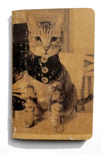 Image of 3.5&quot; X 5.5&quot; Blank Journal with image of Andy the Cat. Kraft Version.
