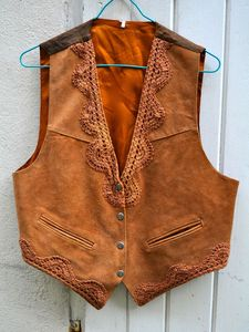 Image of Vintage suede leather Waist-Coat