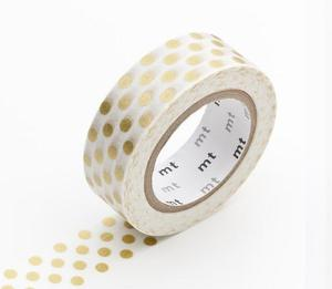 Image of Gold Dot Washi Tape