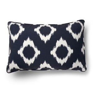 Image of X's And O's Ikat Pillow Cover- Navy
