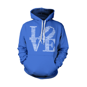 Image of Classic Love Hoodie (Royal)