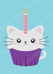 Image of Cupcake Kitty Print