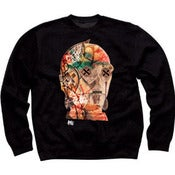 Image of Cyber SLOTH Black Crew Neck Sweater 