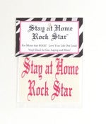 Image of Stay at Home Rock Star Small PINK Decal