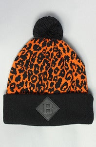 Image of Leopard B Beanie Orange