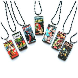 Image of Comic Book Domino Necklace