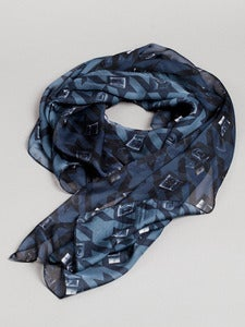 Image of Houndtooth unisex scarf (Grey)