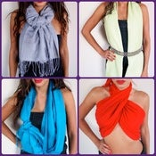 Image of Pashmina Scarves -Different Colors Available