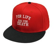 Image of FOR LIFE RED SNAPBACK