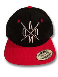 Image of Black & Red AONO Embroidered Snapback