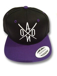 Image of Black & Purple AONO Embroidered Snapback