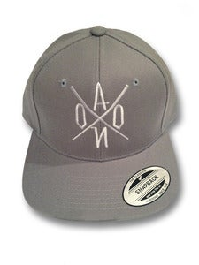 Image of Grey AONO Embroidered Snapback