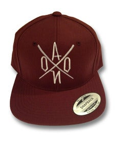 Image of Burgundy AONO Emboidered Snapback