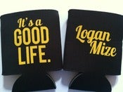 Image of Good Life - Koozie (Black w/ Gold)