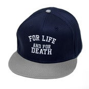 Image of FOR LIFE NAVY SNAPBACK