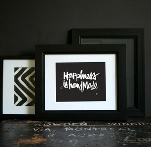 Image of HAPPINESS IS HANDMADE print