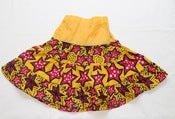 Image of Starry pink and yellow cotton ruffle skirt sz 4-7yrs