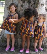 Image of ZAMBIAN chitenge  handmade girls tunic top dress sz 18 months -4 yrs