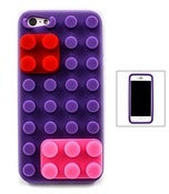 Image of LEGO block IPHONE5 case (Purple, Pink, Green)