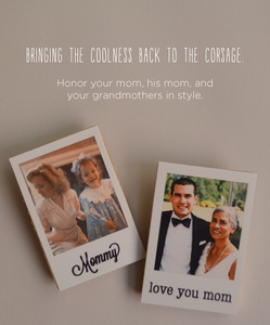 Image of Family Corsage Polaroid Pin and Pin Sets