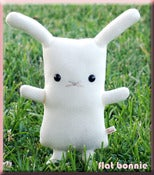 "Image of Flat Bonnie the Bunny Plush - Original White (Classic 12"") Handmade"
