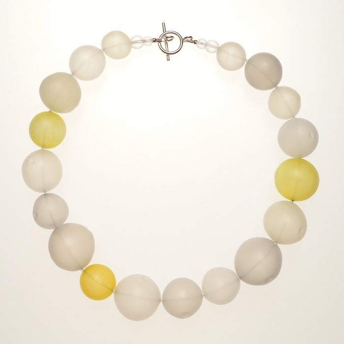 Image of EGGSHELL collar/white + yellow
