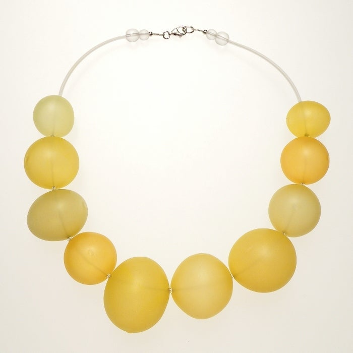 Image of EGGSHELL necklace/yellow
