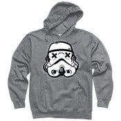 Image of Grey pullover hoodie SLOTH TROOPER