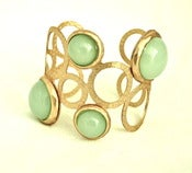 Image of Gold Bubble Cuff in Mint
