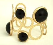 Image of Gold Bubble Cuff in Black