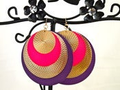 Image of Purple, Pink & Gold Earrings