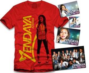 Image of Zendaya Gold Sticker Package Red