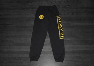 Image of MMVIII Sweatpants (Black/Gold)