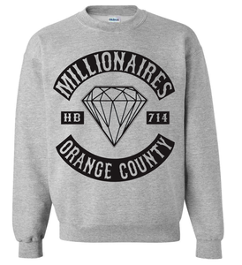 "Image of Millionaires ""OC Club"" Grey Crewneck"