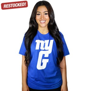 Image of nyg royal blue tee (UNISEX)