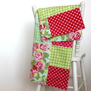Image of Patchwork Summer Throw -Tumble Rose Palette