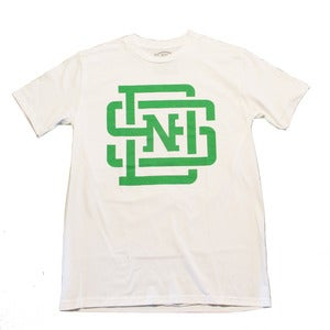 Image of Lockup T-Shirt (White/Kelly Green)