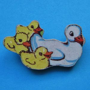 Image of Vintage Jigsaw Brooches (Various Designs)