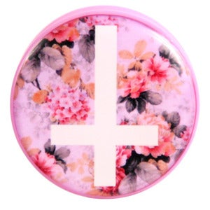 Image of Floral Cross Plug / Gauge