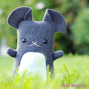 "Image of Flat Dusty Chinchilla Plush (Classic 11"" tall) More Colors Available - Handmade"