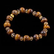 Image of Tiger Eye and Citrine Bracelet - Reiki Enhanced