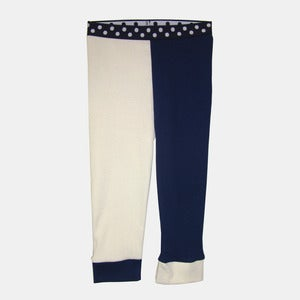 Image of Organic Cotton Jester Leggings - Navy+Owl