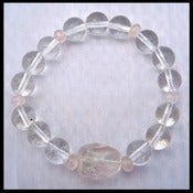 Image of Rose Quartz and Clear Quartz Bracelet -- Reiki Charged