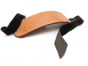 Image of Leather and Chocolate Ribbon Cuff Bracelet