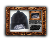 Image of *NEW* Headshot Season Winter Hat [Black & Grey Stripes]
